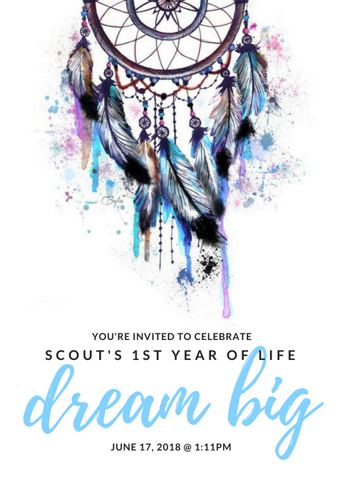 Dream Big invitations