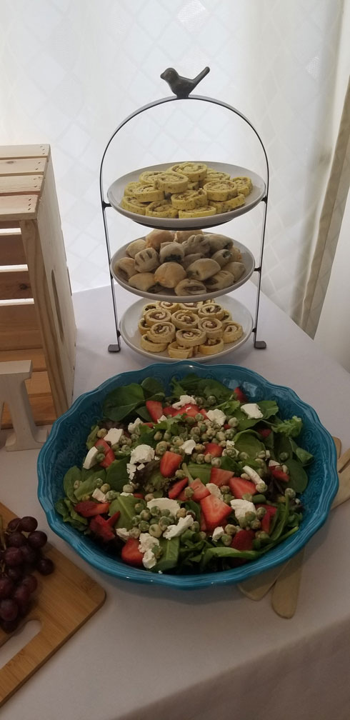 Salad and nibbles