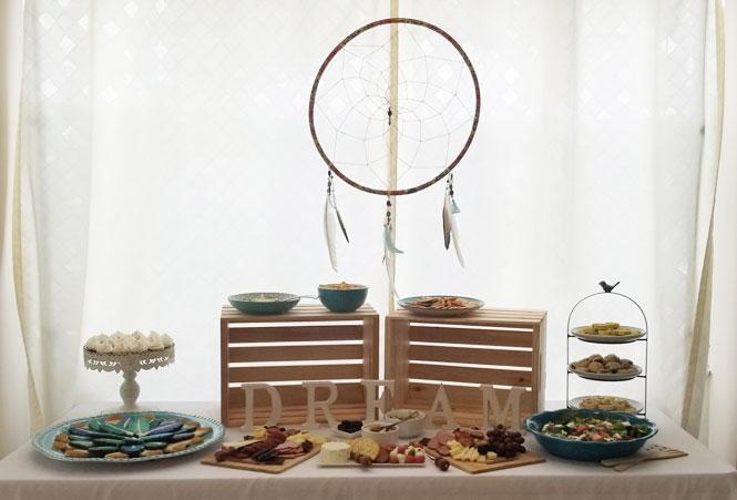 Dream party food spread