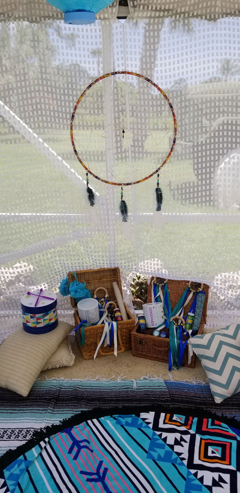 Poolside play area
