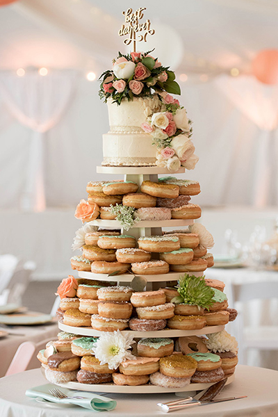 Tiered Donut Cake
