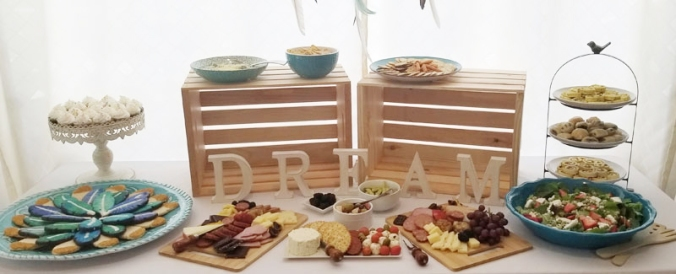 Dream party food table