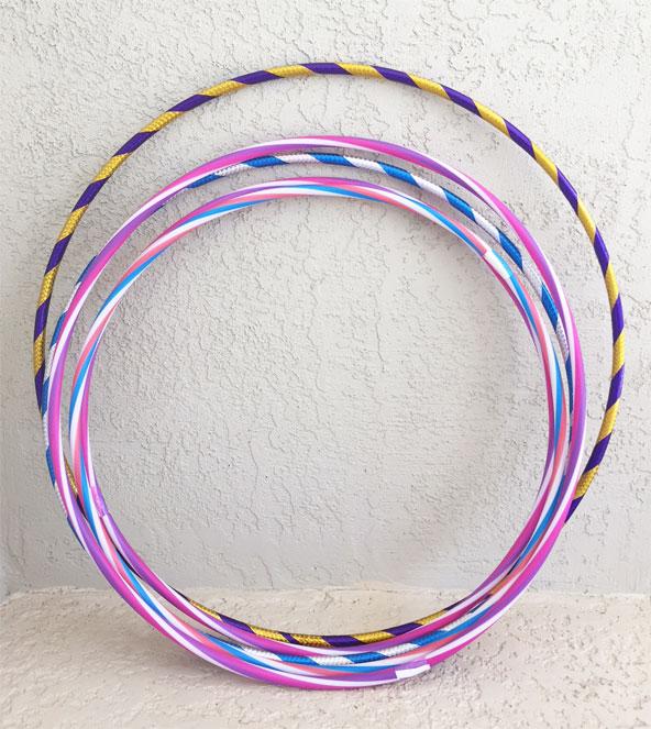 Dollar store hula hoops