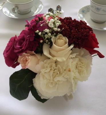 Flowers in teacups