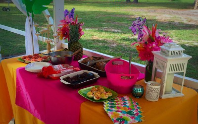 Tropical party food