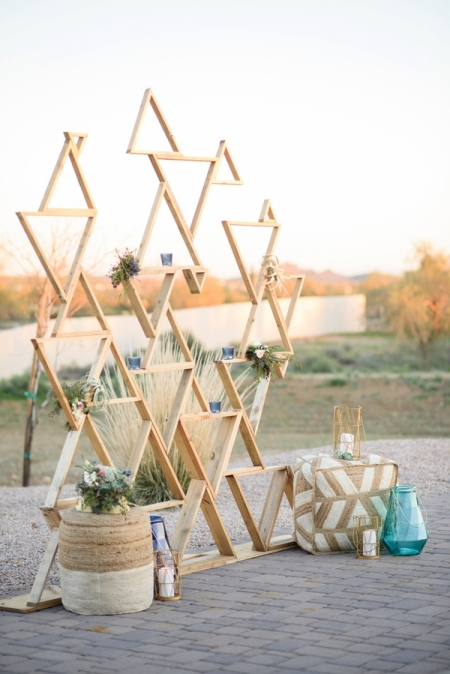 Geometric shape backdrop