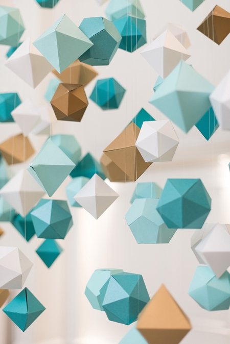 Geometric paper decor