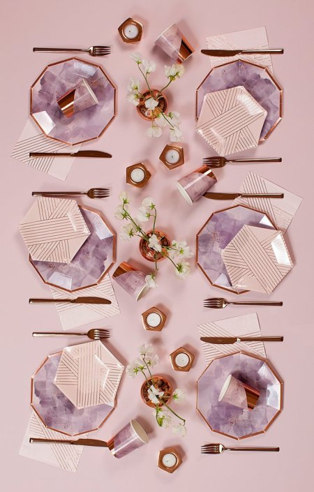 Geometric shaped plates