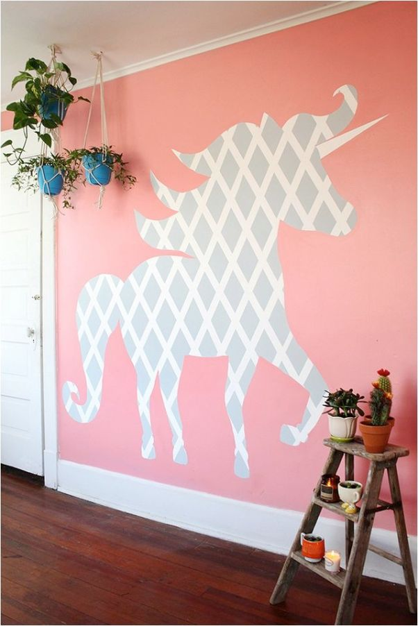unicorn decor stencil